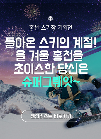 홍천 스키장 기획전